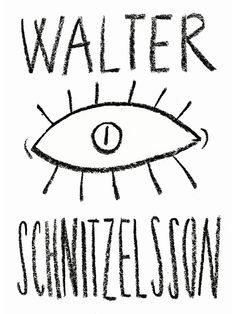Walter Schnitzelsson - merch design by Barbora Idesová, via Behance