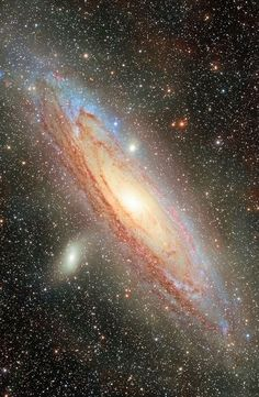 Messier 31 deep version. Glorious. Contains: M 31, Great Nebula in Andromeda, NGC 224, M 32, NGC 221, M 110, NGC 205