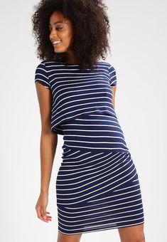 fb2b81530346 Jersey dress - dark blue/off white @ Zalando.de 🛒. VitvitMörkblåKlänningar