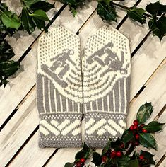 Grab your snowboard and hit the halfpipe (or slopes) with these mittens! Knitted Mittens Pattern, Knit Mittens, Knitted Gloves, Knitting Charts, Knitting Patterns Free, Free Knitting, Handycraft Ideas, Knit Crochet, Crochet Hats