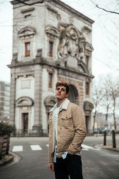 MATTGSTYLE by Matthias Geerts | Wearing LEVI'S jacket, RALPH LAUREN shirt, WEEKDAY tee, LEVI'S jeans, VANS sneaker in Antwerp, Belgium