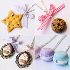 oh my! Sweet jewelry and accessories: biscuit, cookie, cupcake & macaroon from http://www.zygomatics.com/