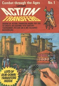 Transfers. It was such a treat to get a transfer. There were so many things you could do with them.