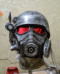 These lenses - how? Fallout New Vegas NCR Ranger cosplay mask complete with helmet, lenses, and LED.