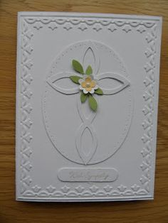Sympathy Card using Framed Tulips embossing folder, Bigz Lattice Die and Oval Framelits