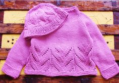Pink toddler sweater hand knit cotton lilac purple roll neck