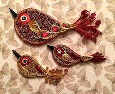 Quilled Birds - Unknown Artist