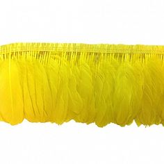 "Parried Goose Pallet Feather Fringe - Lemon Yellow   Product SKU: FPP6 Size: 6"" (1 yard w/bias) Shop Feathers: www.featherplace.com"
