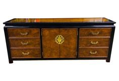 Burled Ming-Style Credenza by Century