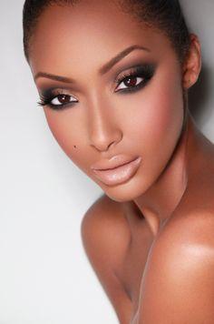 68 Ideas Wedding Makeup Dark Skin Shades 68 Ideen Hochzeit Make-up Dark Skin Shades Bridal Makeup Looks, Natural Wedding Makeup, Natural Makeup, Black Bridal Makeup, Flawless Makeup, Gorgeous Makeup, Love Makeup, Clean Makeup, Makeup Geek