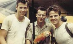 Ed McCully, Pete Fleming and Jim Elliot, missionaries who were martyred for their faith in Ecuador.
