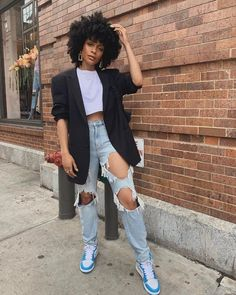 Chic Outfits, Girl Outfits, Summer Outfits, Fashion Outfits, Petite Outfits, Blazer Fashion, Black Women Fashion, Look Fashion, Womens Fashion