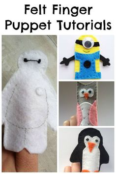 Free Felt Finger Puppet Patterns - Crafts on Sea