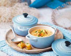 Crab Soup with Parsley Croutons - Le Creuset Recipes Cocotte Le Creuset, Le Creuset Cookware, Dutch Oven Recipes, Cooking Recipes, Mini Cocotte Recipe, Crab Soup, Crab Meat, Crab Recipes, Kitchen Essentials