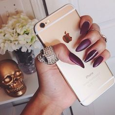 matte maroon nails - Google Search
