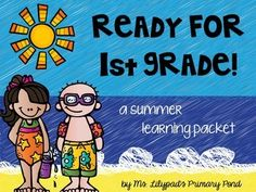 Summer learning packet for end of Kinder / summer before 1st grade! Workbook pages, activities, and family games. No prep whatsoever, just print and use. VERY parent-friendly, too! $