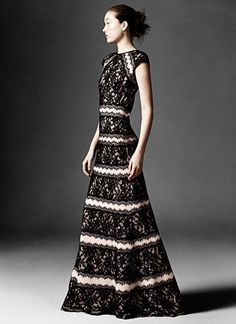 Black Wedding Dress $578 Tadashi Shoji Neoprene Lace Overlay Black Wedding Dress#TadashiShoji #BallGown #Formal