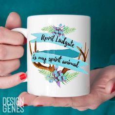 New to DesignGenesStudio on Etsy: April Ludgate is my spirit animal mug Parks and Rec quote mug parks and rec fan gift birthday gift valentines day gift 11oz coffee mug (17.50 USD) #greetingcards #mugs #gifts