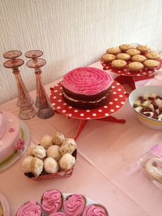 #princess #pink #castle #red velvet #birthday #girl #tea party #tutu #mince pie #1st birthday #party food #food table