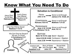 Salvation chart: Know what you need to do Salvation Scriptures, Bible Scriptures, Bible Notes, Quick View Bible, Revelation Bible, Bible Topics, Bible Study Tips, Scripture Study, Bible College