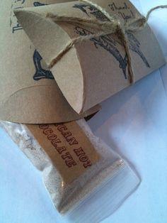 hot cocoa wedding favor packaging idea