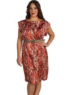 AK Anne Klein Plus - Plus Size Watermark Printed Dress