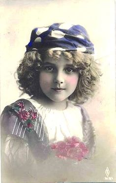https://flic.kr/p/37QjHN | Vintage Postcard ~ Gypsy Girl | Vintage Postcard from my collection ~ more of my favorite little girl.  At first I only collected her cards, but as you can see the collection has grown!