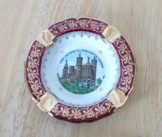 vintage burgundy ashtrayA.C. Limoge from by recupefashionnstuff