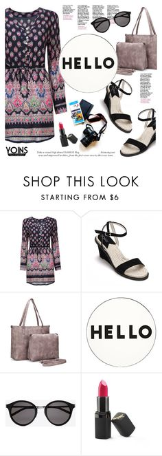 """""""Yoins"""" by helenevlacho ❤ liked on Polyvore featuring Lisa Perry, Yves Saint Laurent, Barry M and yoins"""