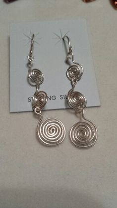 More spirals! Sterling silver filled wire.