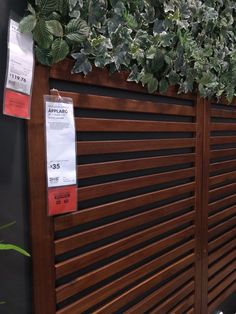 ÄPPLARÖ Wall panel, outdoor, brown stained brown – IKEA - New ideas Privacy Wall Outdoor, Outdoor Wall Panels, Privacy Walls, Backyard Privacy, Backyard Fences, Outdoor Walls, Backyard Landscaping, Outdoor Decor, Diy Privacy Fence