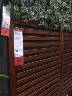 ÄPPLARÖ Wall panel, outdoor, brown stained brown – IKEA - New ideas Outdoor Wall Decor, Outdoor Wall Panels, Small Backyard, Outdoor Decor, Backyard Landscaping Designs, Garden Wall, Garden Design, Fence Design, Privacy Wall Outdoor