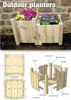Outdoor Planter Plans - Outdoor Plans and Projects   WoodArchivist.com