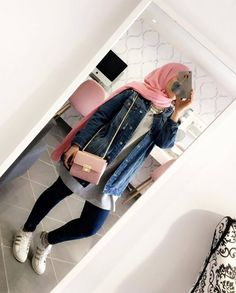 - Casual Look for university 💕 Tag a friend👭 Islamic Fashion, Muslim Fashion, Modest Fashion, Hijab Fashion, Fashion Outfits, Hijab Wear, Hijab Dress, Hijab Outfit, Muslim Girls