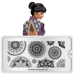 Discover MoYou London Stamping Plate Mandala 04 and create beautiful designs on your nails. Huge selection of themed stamping plates via Picture Polish. Nail Art Designs, Star Designs, Geometric Designs, Triangles, Opi, Nail Art Vernis, Nail Stamper, Nail Art Stamping Plates, Moyou Stamping