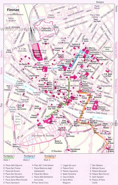 Florence Walking Tours Map - Tourist Attractions