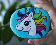 Unicorn Painted Stone Painted Rock Free Shipping Worldwide