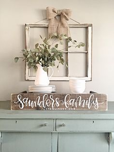 Room decor - rustic farmhouse style - Last Name Sign Rustic Home Decor Personalized Sign Reclaimed Wood by SalvagedChicMarket on Etsy Diy Home Decor Rustic, Easy Home Decor, Cheap Home Decor, Country Decor, Rustic Window Decor, Window Frame Decor, Vintage Window Decor, Country Farmhouse, Bedroom Rustic