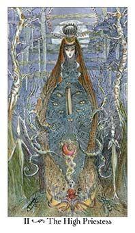 The High Priestess Tarot Card - Paulina Tarot Deck