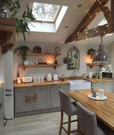 Rustic Kitchen, Kitchen Decor, Kitchen Ideas, Scandinavian Kitchen, Scandinavian Design, Kitchen Colors, Kitchen Countertops, Cool Kitchens, Kitchen Remodel