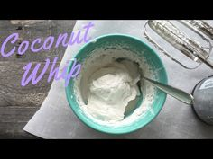 How to make coconut whip dairy-free topping, using coconut milk and coconut cream. Diy Whipped Cream, Dairy Free Whipped Cream, Ice Cream, Dairy Free Recipes, Vegan Recipes, Cooking Recipes, Vegan Desserts, Dessert Recipes, Vegan Food