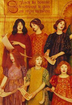 Pre Raphaelite Art: Thomas Cooper Gotch. Detail from Alleluia, 1896