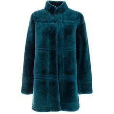 Grey Fur Bomber Coat | Moda Operandi (294655 RSD) ❤ liked on Polyvore featuring outerwear, coats, bomber coat, long sleeve coat, grey coat, gray coat and fur bomber coat