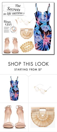 """""""Rings of glory"""" by azrapjanic27 ❤ liked on Polyvore featuring Stuart Weitzman, Cult Gaia, Tiffany & Co. and INC International Concepts"""