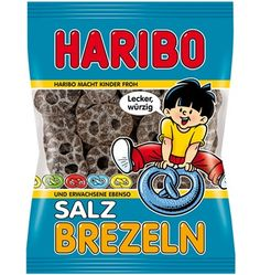 The delicious liquorice pretzels from Haribo: wonderful combination of salty and sweet. The Haribo pretzels are a culinary delight for licorice lovers. Jelly Tots, Salted Pretzel, Pokemon, Brand Packaging, Candy Brands, Food, Advertising, Museum, Kitchen
