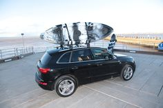 The Channel Kayaks bass in Black and white on the Audi Q5