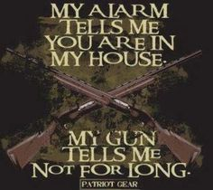 Pray that he is with you My Alarm tells me you are in my house. My Gun tells me not for long. #SecondAmendment