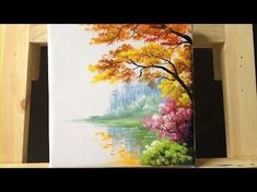 How to paint trees and bushes in acrylics part 2 - YouTube