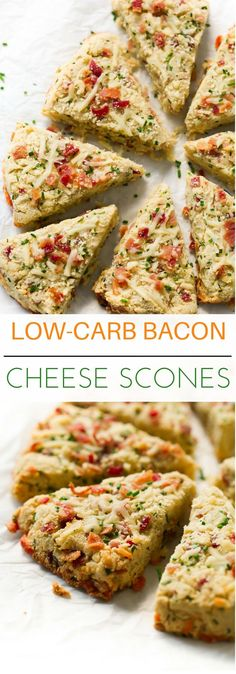 Low-carb Bacon and Cheese Scones - These Low-carb Bacon and Cheese Scones are gluten-free, ultra-simple to whip up and they are made with almond flour, coconut flour, bacon, cheese and chives.(Healthy Low Carb Breakfast)