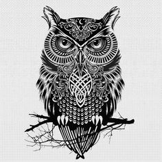 Best Gothic Owl Tattoo Design